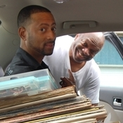 Madlib (left) and Stanton Davis loading up the car.