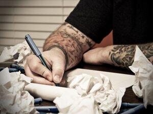 Tattooed writer