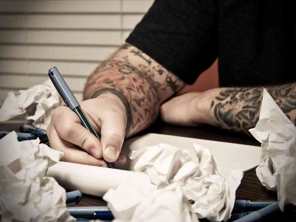 Tattooed writer