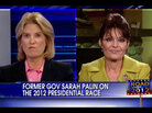 Sarah Palin on Fox News with Greta Van Susteren.