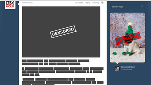 This is what a Tumblr news feed looks like today.