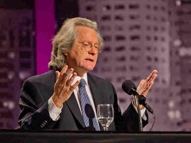 "A.C. Grayling, a British philosopher and professor, argues for the motion ""The World Would Be Better Off Without Religion"" at a Nov. 15 Intelligence Squared U.S. debate."