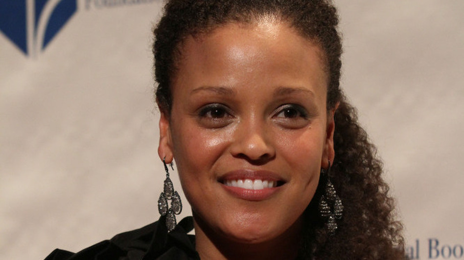 Jesmyn Ward, winner of the National Book Award for Fiction for her book Salvage the Bones, poses at the National Book Awards Wednesday night. (AP)
