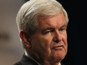 Republican Presidential Candidate Newt Gingrich speaks to a gathering of conservative Christians at the Iowa Faith & Freedom Coalition Presidential Forum on Oct. 22, 2011 in Des Moines, Iowa.