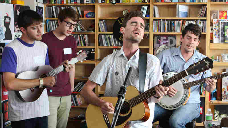 Hospital Ships performs a Tiny Desk Concert at the NPR Music offices on June 23, 2011.
