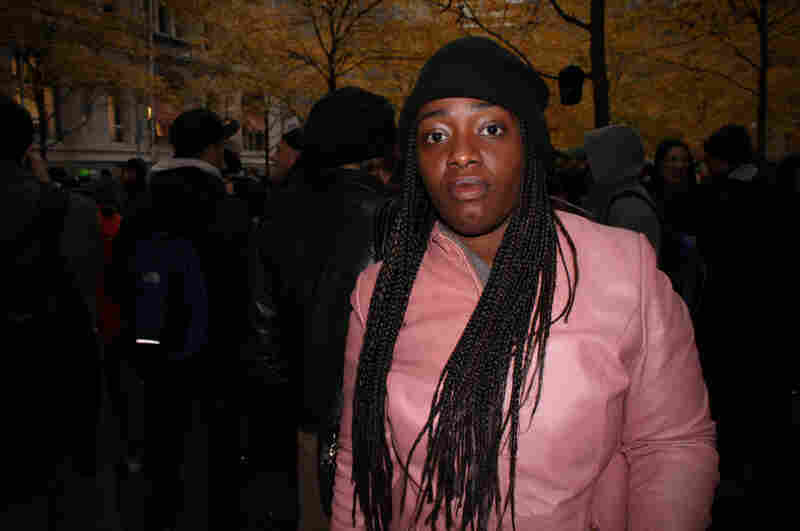 Lady Millard at Zuccotti Park in Manhattan.