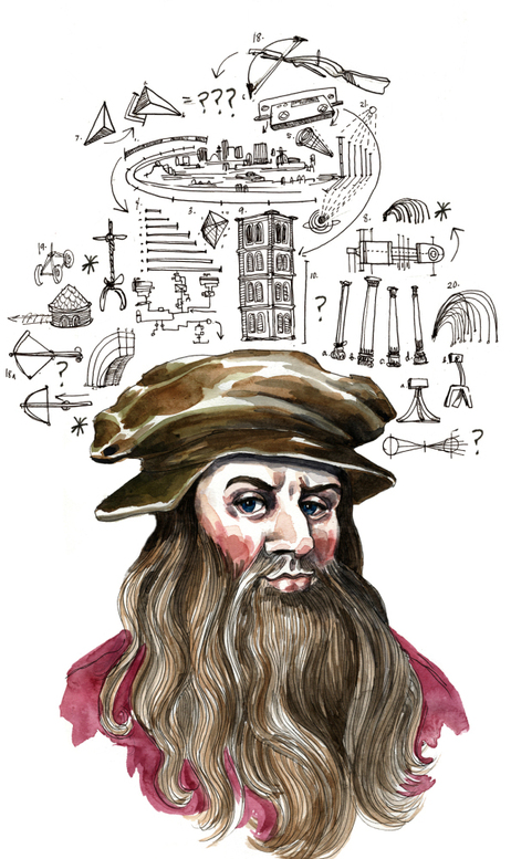Portrait of Leonardo, by Wendy MacNaughton (wendymacnaughton.com)