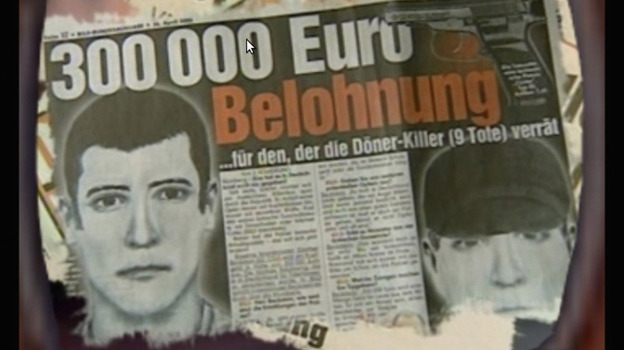 Germany has been rocked by allegations that a small, underground neo-Nazi group calling itself the Nationalist Socialist Underground carried out a 13-year-long crime spree that included murder, robbery and bombing. Here, a screen shot from a promotional DVD reportedly made by neo-Nazis Uwe Mundlos and Uwe Boenhardt. The two men committed suicide earlier this month. (Getty Images)
