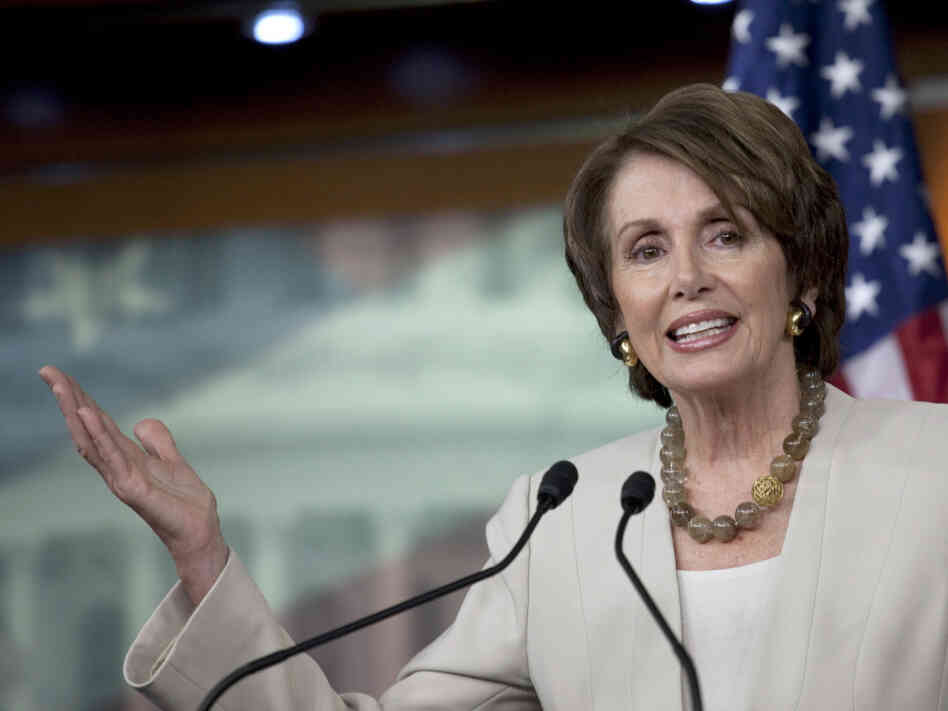 House Minority Leader Rep. Nancy Pelosi had a little fun at Gov. Rick Perry's expense.