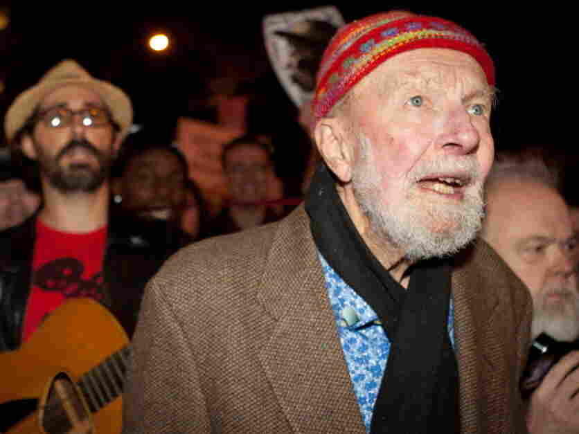Activist musician Pete Seeger, 92, at the Occupy Wall Street protests in New York City last month. He's part of the oldest old generation.