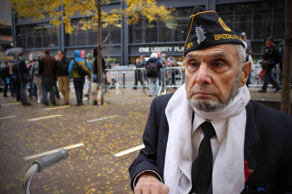 Stephen Patti, 85, was one of the protesters at Zuccotti Park.