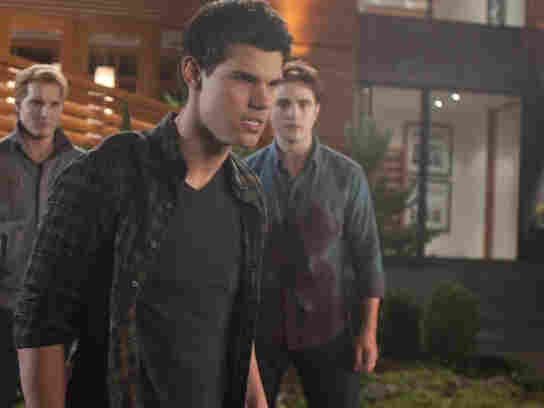 He's still around? We are duty-bound to report that Jacob (Taylor Lautner) is still part of a plot that grows increasingly preposterous, not that that will matter in the least.