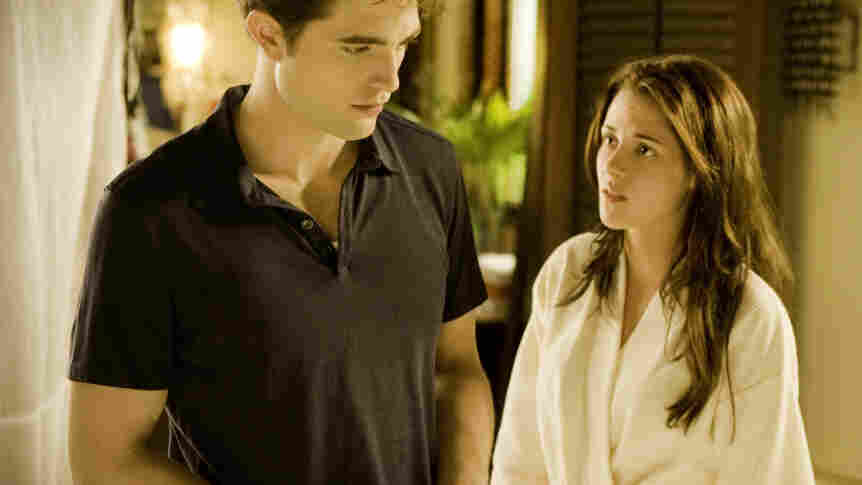 The happy couple: Psych! Edward (Robert Pattinson) and Bella (Kristen Stewart) are never (spoiler) going to be happy.