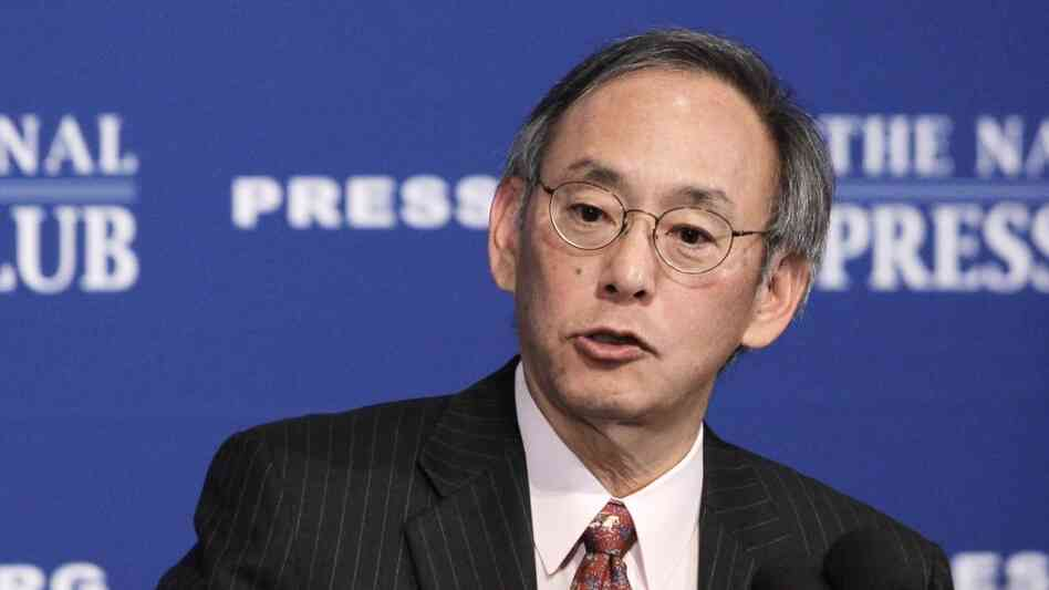 Energy Secretary Steven Chu gives a speech at the National Press Club in Washington.
