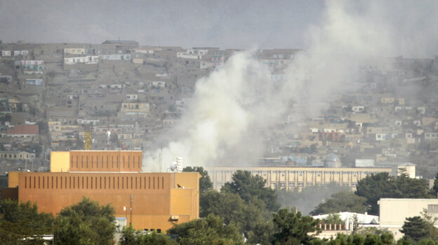 The Pakistan-based Haqqani network has been blamed for a series of high-profile attacks including this one on Sept. 13 in Kabul. Insurgents fired rocket-propelled grenades and assault rifles at the U.S. Embassy, NATO headquarters and other buildings in the heart of the Afghan capital.