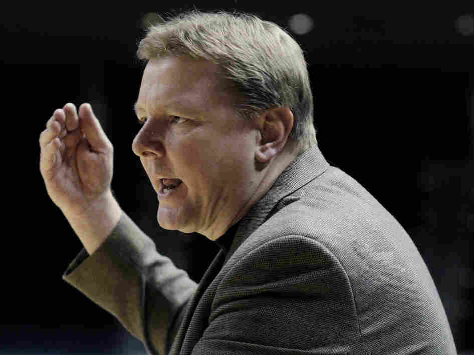 Oklahoma State women's basketball coach Kurt Budke during a game last February. He died in a plane crash Thursday night in Arkansas.