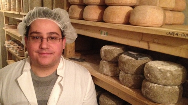 Aaron Foster, with cheese.  (NPR)