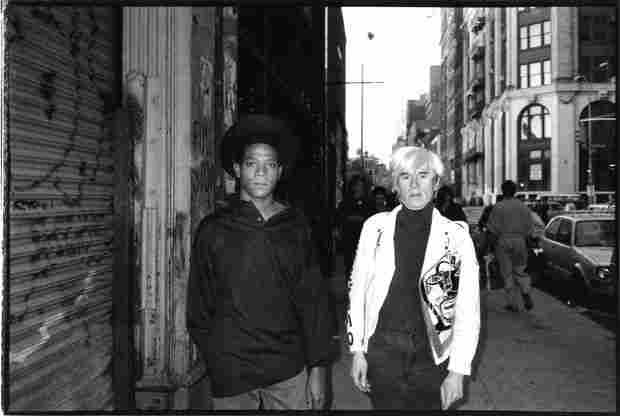 Jean-Michel Basquiat and Andy Warhol, Lower East Side, 1987