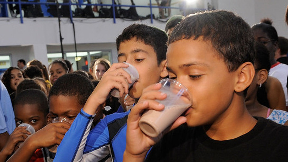 Across the country, schools have been tossing chocolate milk out of lunchrooms. But these New York City kids chugged low-fat chocolate milk as part of Refuel America. Launched in the summer of 2010, the campaign promotes the drink for post-exercise recovery. (Getty Images)