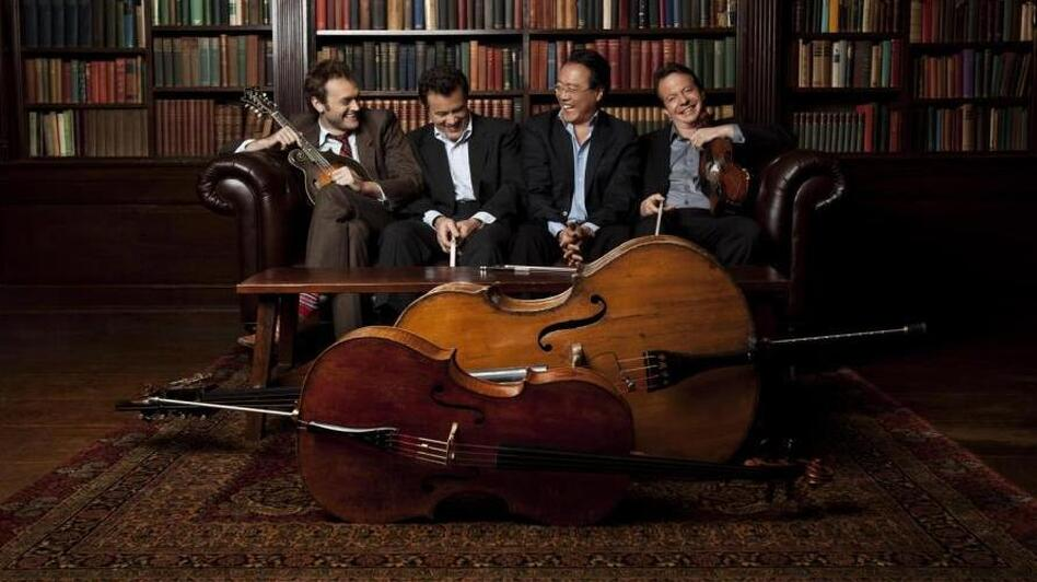 Yo-Yo Ma's latest Americana exploration features his work with mandolinist Chris Thile, bassist Edgar Meyer and fiddler Stuart Duncan. (Jeremy Cowart)