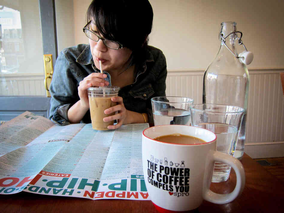 Flickr user Jennifer Yin notes that at Spro in the Hampden neighborhood of Baltimore, they sell $14 coffee.