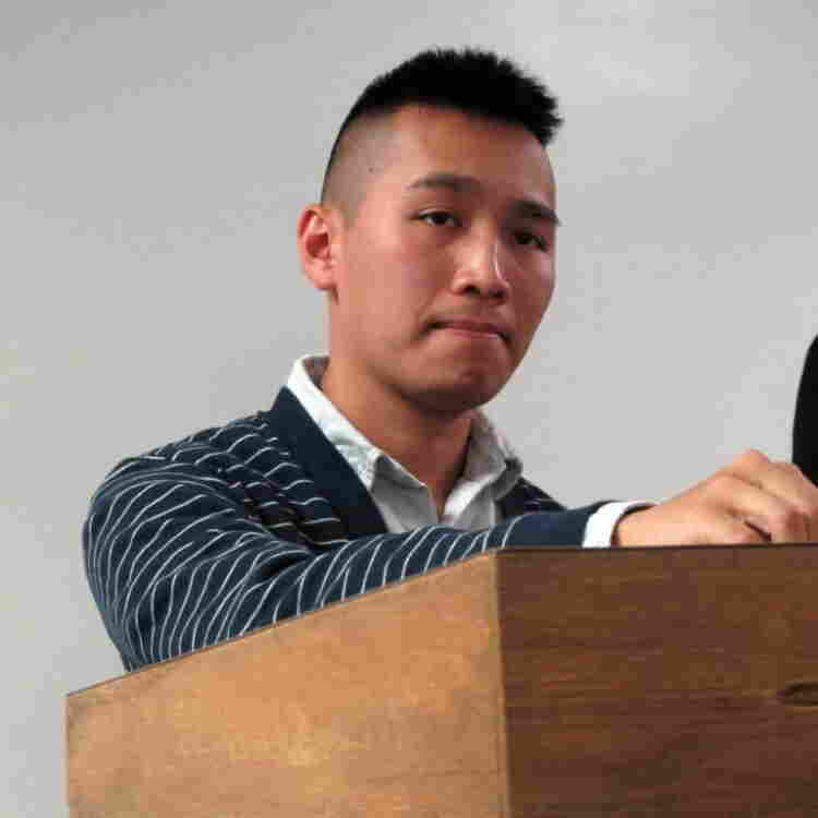 Occupy Memphis member Tristan Tran, at the meeting.