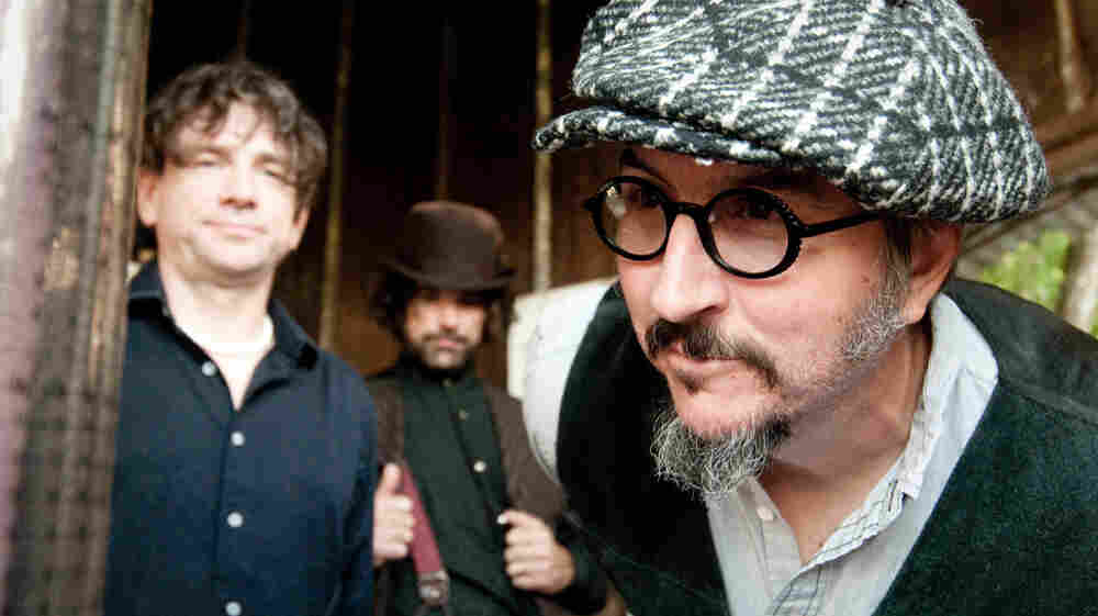 Les Claypool (far right) has had plenty of extracurricular pursuits since the last Primus album. Green Naugahyde is the band's first long-player in over a decade.