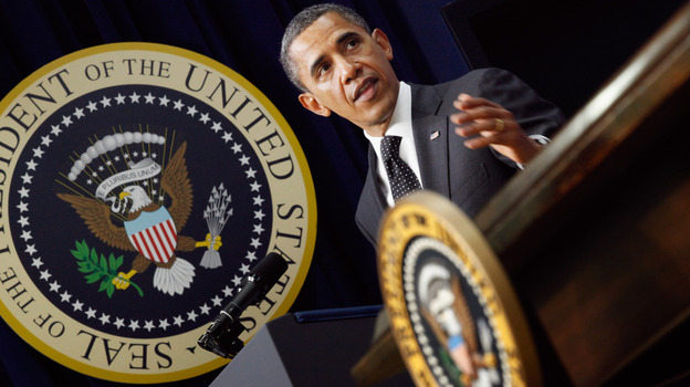 President Obama delivered remarks before signing legislation that will provide business tax credits to help put veterans back to work on Monday.  (Getty Images)
