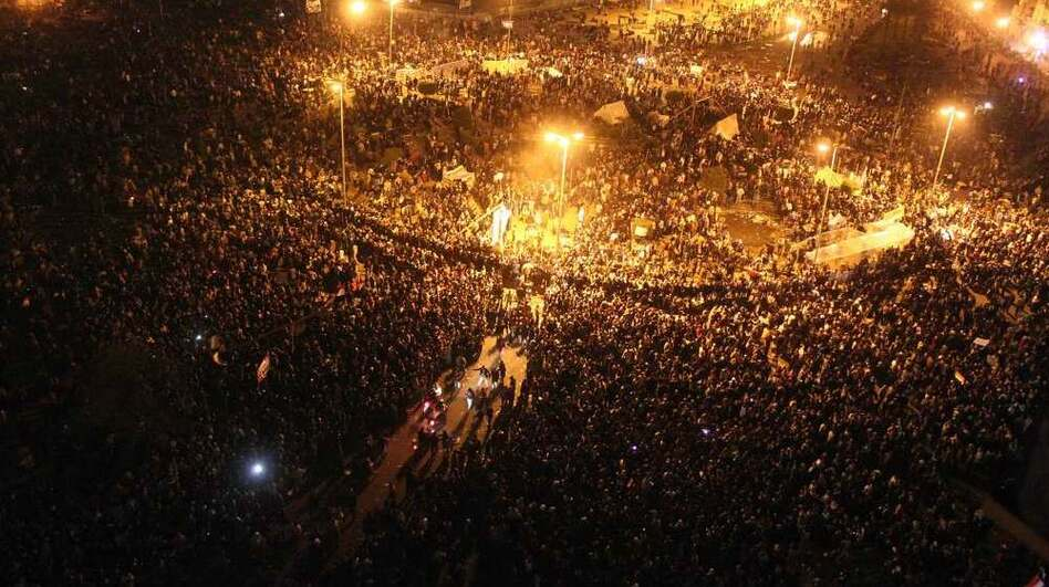 Egyptian protesters gather in Cairo's Tahrir Square on Monday. (AFP/Getty Images)