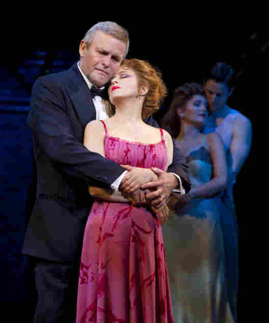 Now and then: Ron Raines and Bernadette Peters sing passionately of a less cynical time, while their younger selves (Lora Lee Gayer and Nick Verina) hover in the half-light.