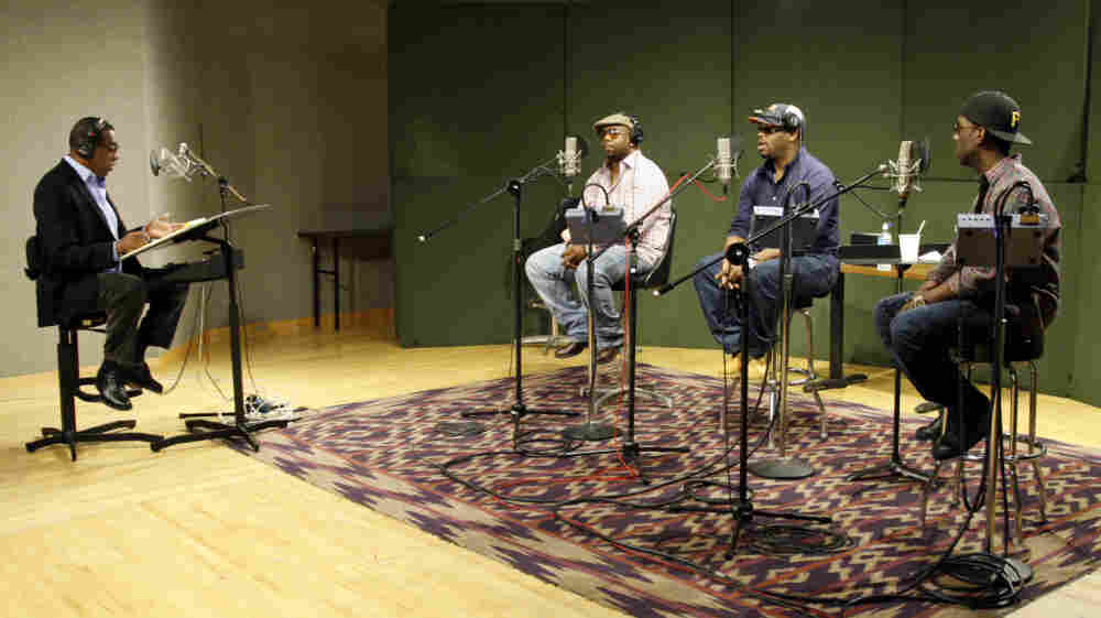 Boyz II Men joins Tell Me More guest host Tony Cox for a performance chat at NPR headquarters in Washington, D.C.