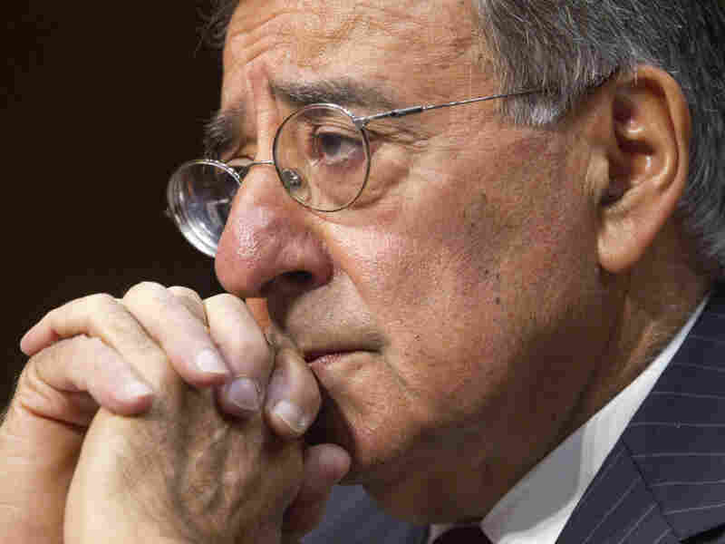 Defense Secretary Leon Panetta testifies on Capitol Hill on Nov. 15. He said the proposed cuts to the Pentagon budget would lead to a hollow force.