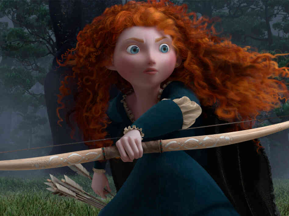 Merida, the princess at the heart of Pixar's 2012 film Brave.