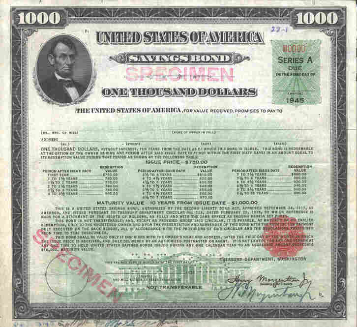 "The very first U.S. savings bond was issued on March 1, 1935. It was nicknamed ""the baby bond."" It had a maturity of 10 years and paid 2.9 percent interest."