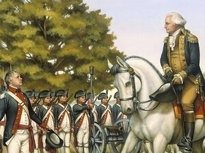 "An illustration, ""The Whiskey Rebellion. Harrisburg, Pennsylvania — October 3, 1794"""