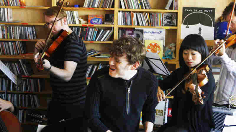 Gabriel Kahane performs a Tiny Desk Concert at the NPR Music offices on Monday, October 17, 2011.