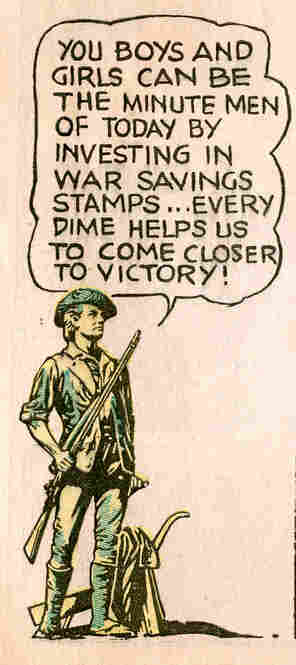 Also in 1941, the Treasury started selling U.S. Savings Stamps which could be bought for as little as a dime. Children were encouraged to fill an album with the stamps and then exchange it for a savings bond.