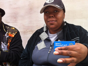 Linda Black of Nashville, Tenn., says she left Bank of America after repeatedly being hit by fees. She now uses the Walmart MoneyCard instead, which has a flat fee of $3 a