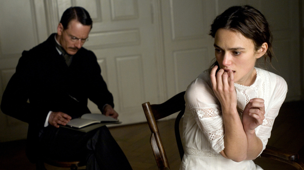 'Dangerous' minds? Psychoanalyst Carl Jung (Michael Fassbender) applies the talking cure to Sabina (Keira Knightley) a young woman diagnosed with what was then called hysteria.