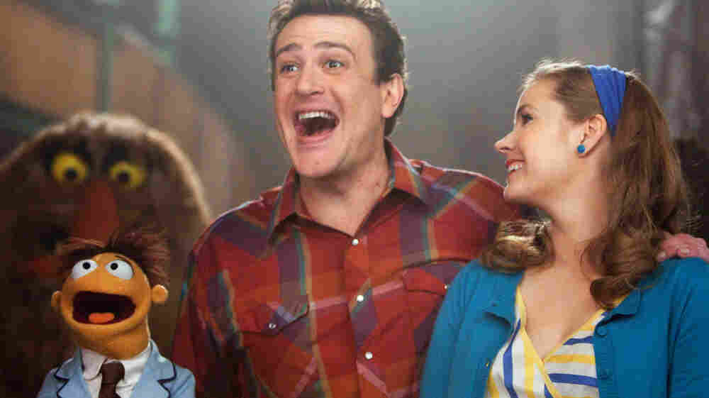 Superfans: Gary (Jason Segel),  Mary (Amy Adams) and Gary's brother Walter (the one in felt) set out to tour the Muppet Theater, only to discover that it's in danger of demolition.