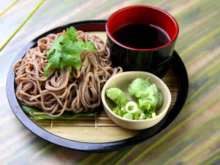 Violist Nicholas Cords likes his Japanese soba noodles on the quiet side.