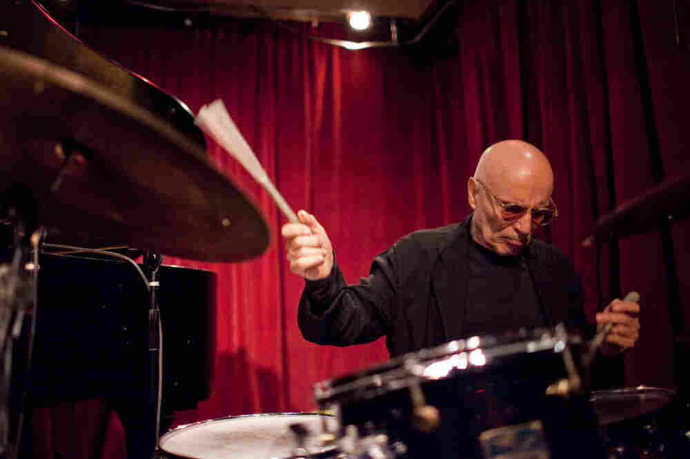 Paul Motian, performing with pianist Dan Tepfer, at the Cornelia Street Cafe in Manhattan.