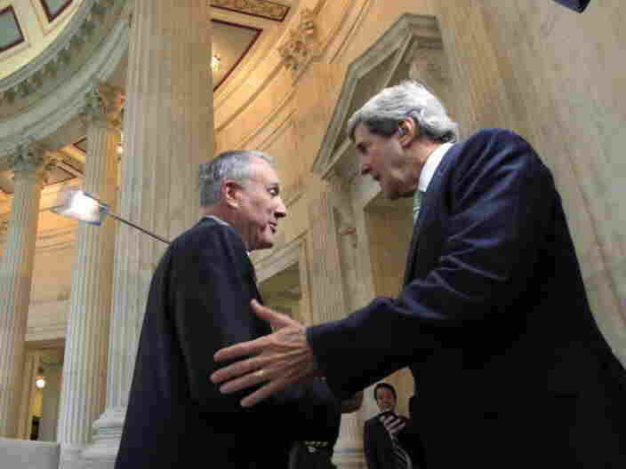 Supercommittee members, Sen. Jon Kyl of Arizona and Sen. John Kerry of Massachusetts.