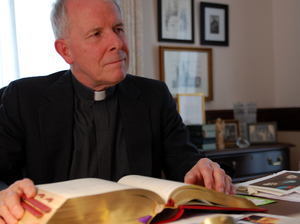 The Rev. Michael Ryan, the pastor of St. James Cathedral in Seattle, has reservations about the newly revamped English-language Catholic Mass.