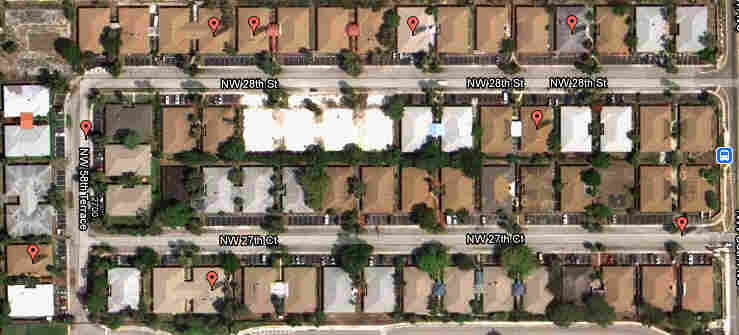 There are eight active assisted-living facilities on the U-shaped block of Cannon Point. Click to explore an interactive map of all ALFs in Florida.