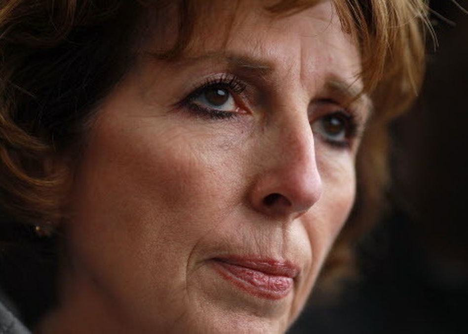University of California, Davis, Chancellor Linda Katehi as she met with Occupy protesters Monday on campus. (Justin Sullivan/Getty Images)
