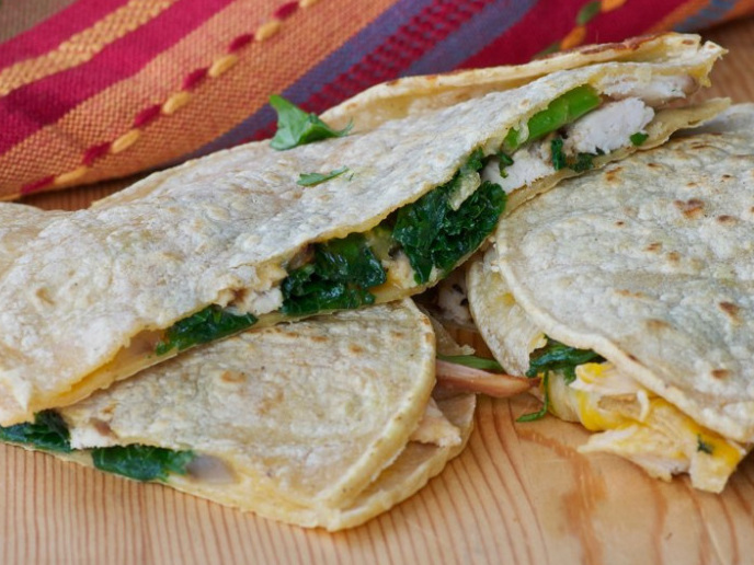 Recipe: Cheesy Turkey And Kale Quesadillas : NPR