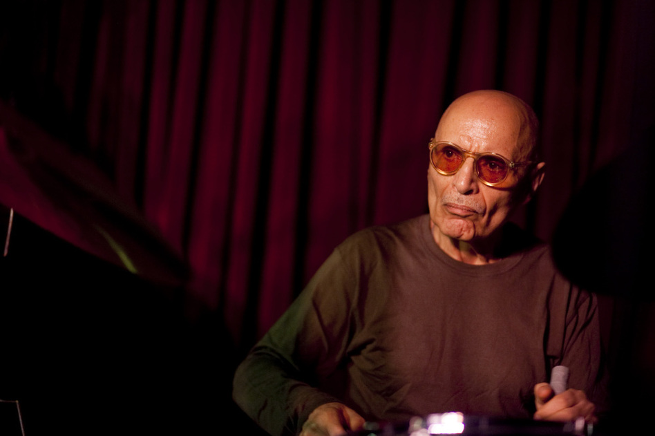 Paul Motian, performing live at the Village Vanguard.