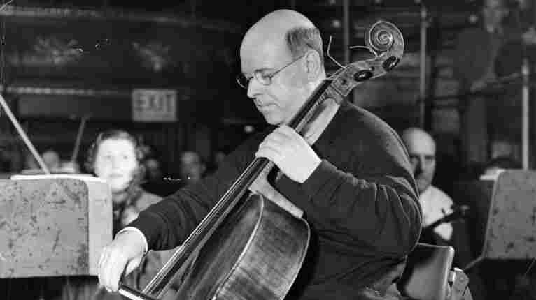 Spanish musician and composer Pablo Casals, playing the cello in 1936.