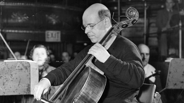 Spanish musician and composer Pablo Casals, playing the cello in 1936. (Getty Images)